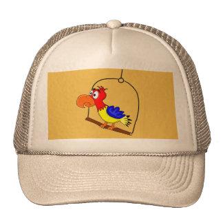 Bonés do design do Macaw e chapéus feitos sob