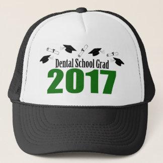 Bonés do formando 2017 da escola dental e diplomas