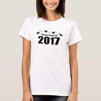 Bonés do formando 2017 da escola veterinária & camiseta
