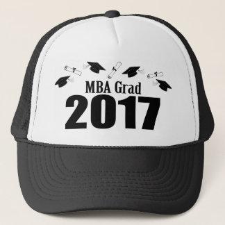 Bonés do formando 2017 de MBA e diplomas (preto)