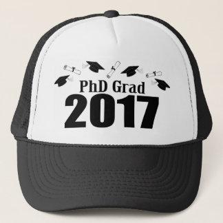 Bonés do formando 2017 do PhD e diplomas (preto)