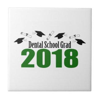 Bonés do formando 2018 da escola dental e diplomas