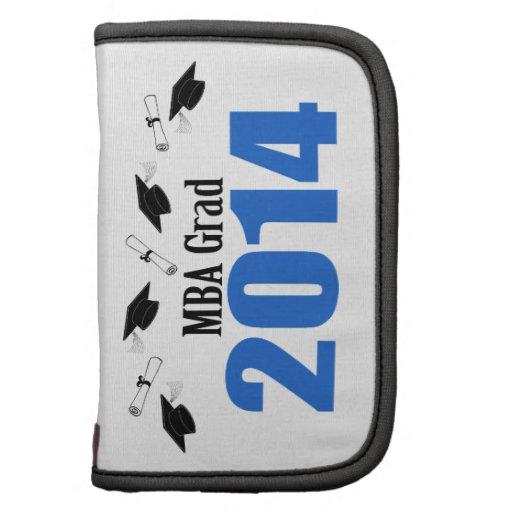 Bonés e diplomas do formando 2014 de MBA (azuis) Organizadores