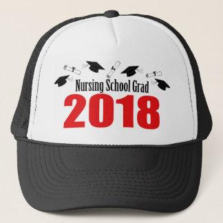 Bonés e diplomas do formando 2018 da escola de