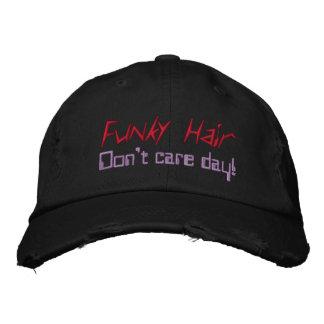 Bonés pretos roxos vermelhos do cabelo Funky