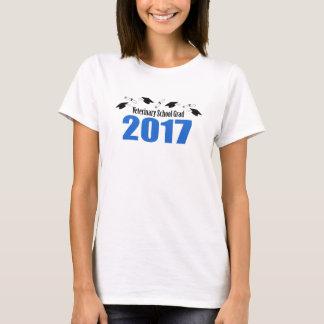 Bonés veterinários e diplomas do formando 2017 camiseta