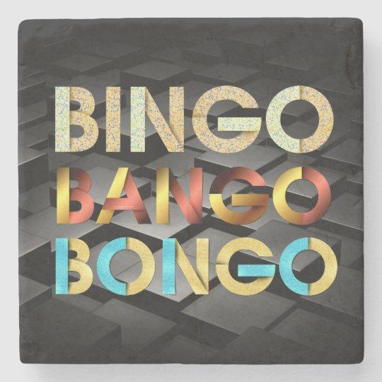 Bongos de Bango do Bingo do T Porta-copo De Pedra