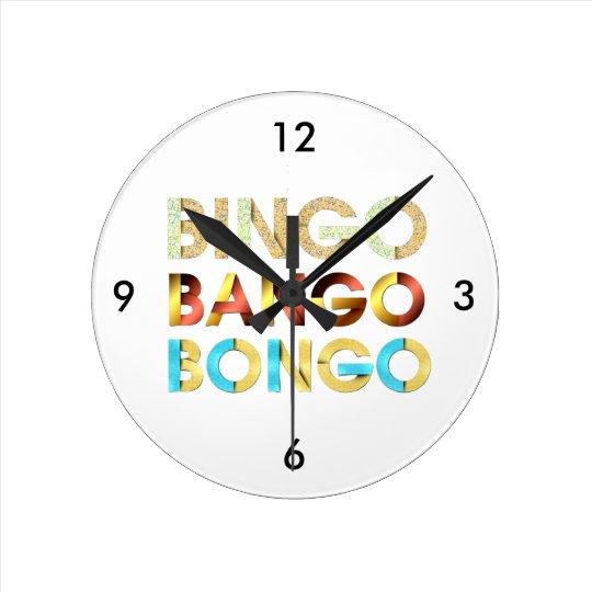 Bongos de Bango do Bingo do T Relógio Redondo