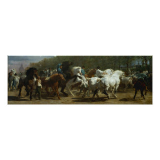 "Bonito ""a feira de cavalo"" por Rosa Bonfeur Pôster"