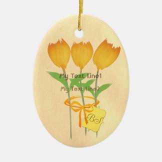 Bonito adicione o ornamento amarelo alaranjado do