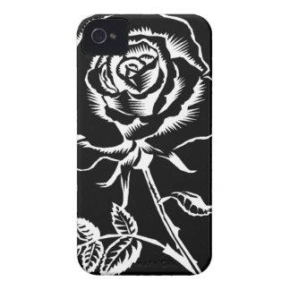 bonito aumentou em preto e branco capa para iPhone