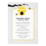 Bonito Bumble convites do chá de fraldas das abelh