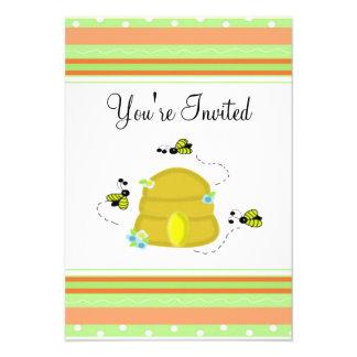 Bonito Bumble o convite de festas da abelha