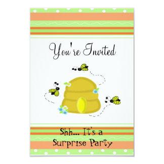 Bonito Bumble o convite de festas da surpresa da