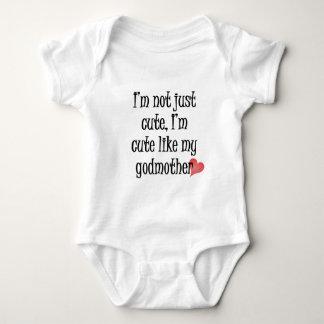 Bonito como minha madrinha body para bebê