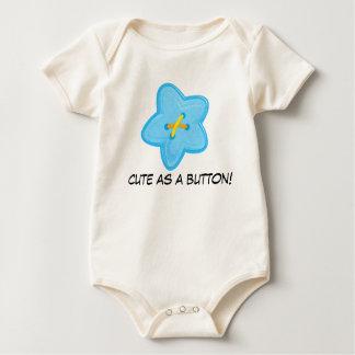 Bonito como um Creeper da criança do botão Macacãozinho Para Bebê