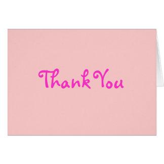 Bonito em cartões de agradecimentos cor-de-rosa