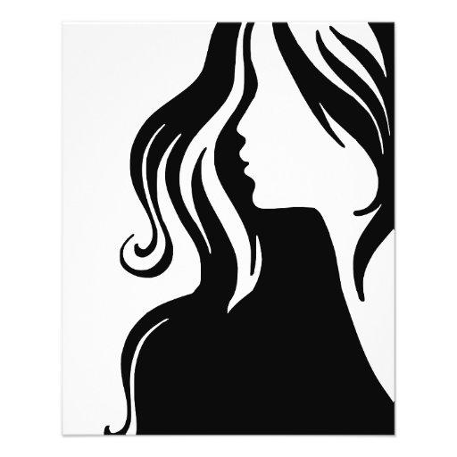 bonito fêmea da menina do retrato da mulher modelo de panfleto