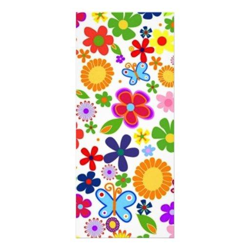 bonito floral do padrão convite personalizado
