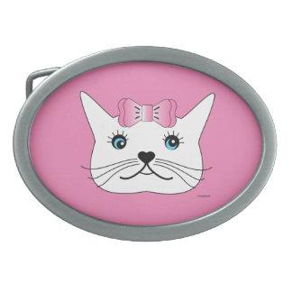 Bonito-Menina-Gato-com-Cor-de-rosa-Arco