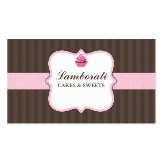 Bonito moderno elegante do rosa da padaria do cartão de visita