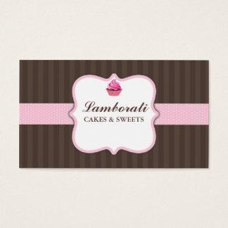Bonito moderno elegante do rosa da padaria do cartão de visitas