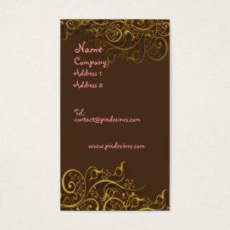 Bonito no rosa no chocolate com cartão de visita