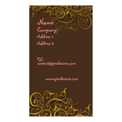 Bonito no rosa no chocolate com cartão de visita d