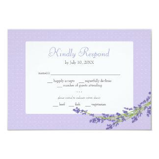 Bonito no roxo | que Wedding responde o cartão Convite 8.89 X 12.7cm
