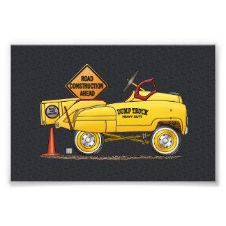 Bonito Peddle o caminhão Peddle o carro Impressão De Foto