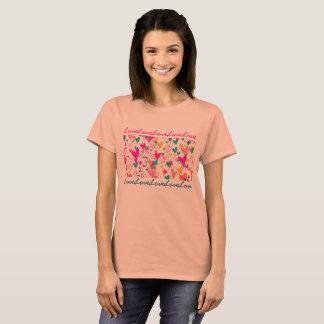 Bonito romântico do teste padrão feminino do amor camiseta