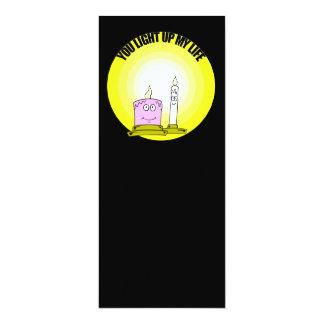 Bonito você ilumina acima minhas velas da vida convites
