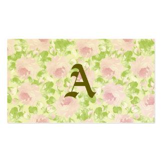 Bonitos, digital, pintura de água, rosa, rosas, cartão de visita