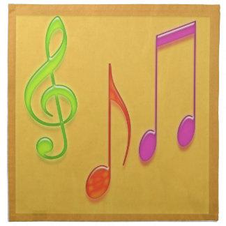 Bonne Appetit - símbolos de música da dança Guardanapos Impresso