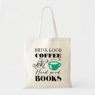 Bons café & livros sacola tote budget