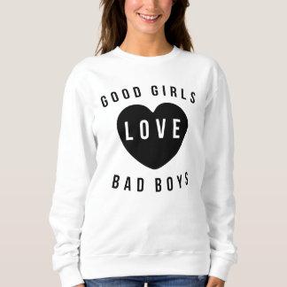 Bons meninos do mau do amor das meninas moletom