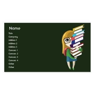 Bookgirl - negócio cartão de visita