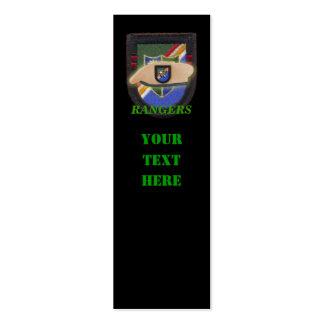 Bookmarkers instantâneos do remendo do veterano da cartão de visita
