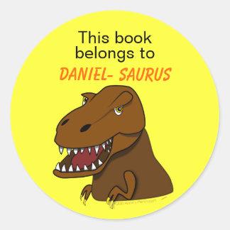 Bookplate do costume do dinossauro de Rex do Adesivo