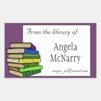 Bookplate dos livros ou etiqueta da posse