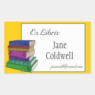 Bookplate dos livros ou etiqueta ex de Libris