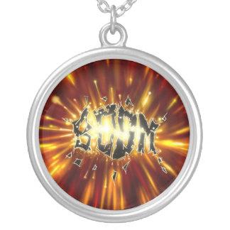 Boom- necklace/colar colar com pendente redondo