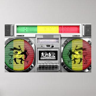 boombox da reggae impressão