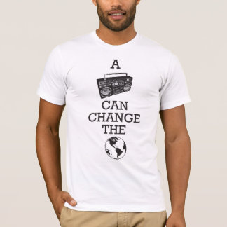 Boombox pode mudar o mundo camiseta