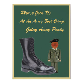 Boot Camp do soldado que vai afastado convite