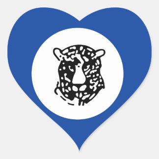 Bophuthatswana Adesivo Em Forma De Coração