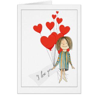 boquet do dia dos namorados dos corações cartão
