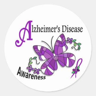 Borboleta 2 Alzheimer do vitral Adesivo