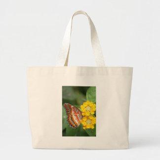 borboleta alaranjada bolsa para compras