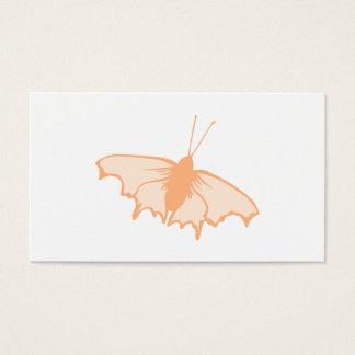 Borboleta alaranjada cartão de visitas